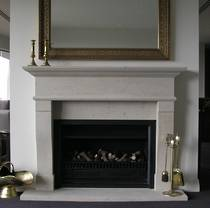 French Provincial inspired fire surround carved in Hinuera Stone