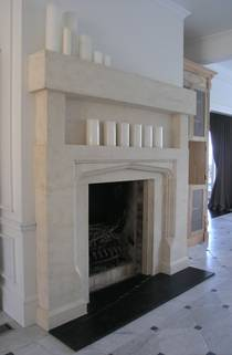 Large Tudor arch with recessed Overmantle
