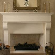 Large French Provincial mantle carved in Oamaru Limestone